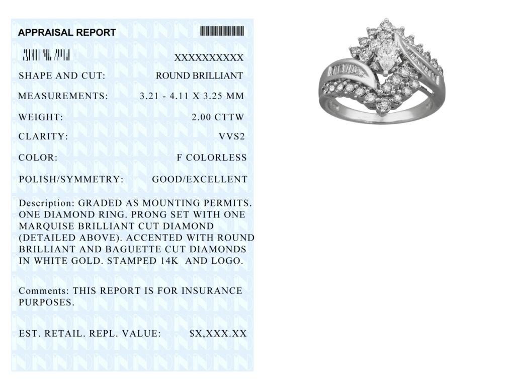 Jewelry Appraisal Document Quick Jewelry Repairs