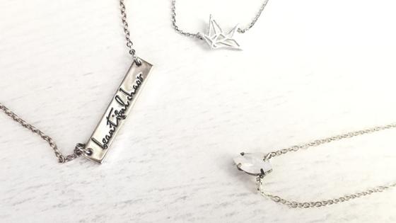 Minimalist dainty necklaces