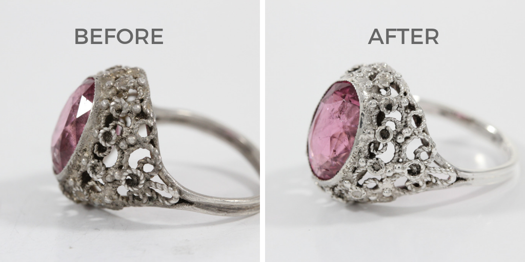 pink sapphire ring dirty jewelry