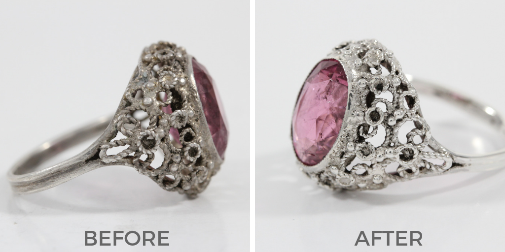 jewelry cleaning before and after
