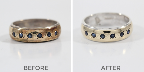 jewelry polishing before and after