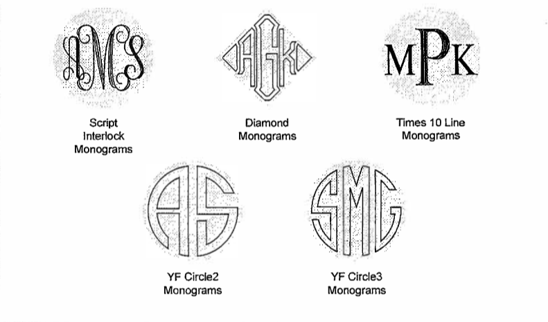 monogram-options