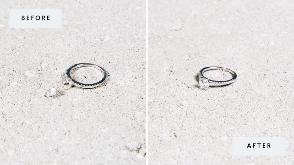 wedding ring stone tightening
